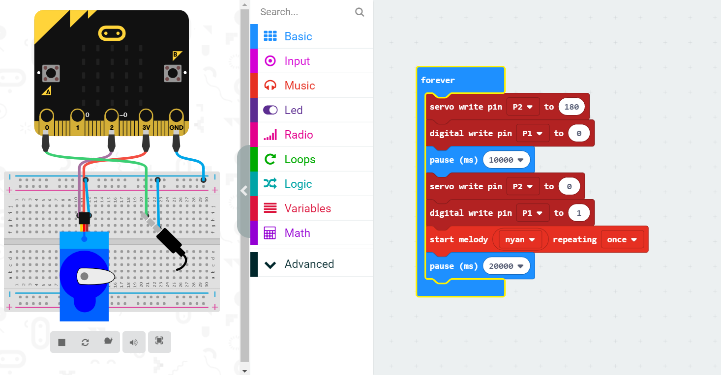 It's surprising how much you can get out of just three pins. Whatever project you're making, the micro:bit simulator is a great way to test out ideas before committing to the building phase.